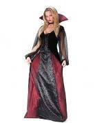 Elegante Vampirin Gothic Damenkostüm schwarz-rot