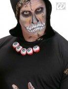 Halskette mit Augen Halloween-Schmuck Kostüm-Accessoire weiss-rot-schwarz