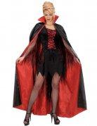 Satin-Umhang Vampirin schwarz-rot