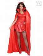 Vampir-Umhang für Halloween rot 158cm