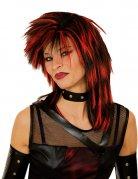 Wilde Punker-Perücke schwarz-rot