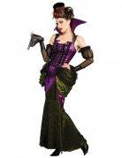 Viktorianische Vampirin Damenkostüm lila-grün