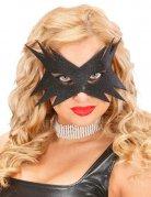 Glitzermaske Augenmaske Stern schwarz
