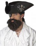 Karibischer Piraten Kapitän Bart dunkelbraun