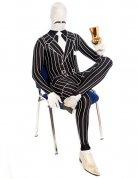 Morphsuit Gangster Mafia-Kostüm schwarz-weiss
