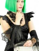 Gothic-Armstulpen Halloween-Accessoire schwarz