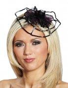 Spinnennetz Gothic Halloween Haarreif schwarz-lila