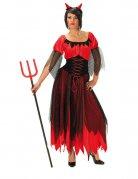 Teufelin Dämonin Halloween Damenkostüm schwarz-rot