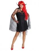 Vampirin Gothic Halloween Damenkostüm schwarz