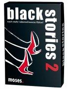 Black Stories 2 - 50 Crimerätsel schwarz-weiss-rot 9x13cm