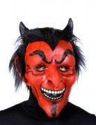 Teufel Luzifer Dämon Maske Halloween rot-schwarz