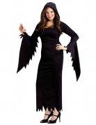 Gothic Zauberin Hexe Damenkostüm Plus Size schwarz
