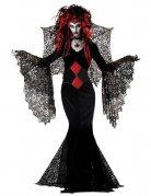Schwarze Witwe Kostüm für Halloween schwarz-rot