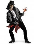 Skelett Rockstar Zombie Halloween Kostüm schwarz-weiss
