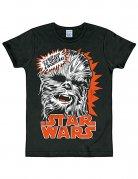 Star Wars Chewbacca T-Shirt Slimfit schwarz