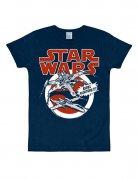 Star Wars X-Wings T-Shirt Slimfit blau-rot-weiss