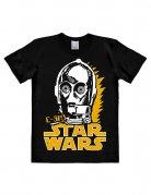 Star Wars C-3PO Shirt T-Shirt Easyfit schwarz