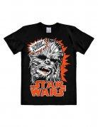 Star Wars Chewbacca T-Shirt Easyfit Lizenzware schwarz-weiss-orange