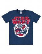 Star Wars T-Shirt X-Wings Easy Fit Lizenzware blau-weiss-rot
