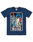 Star Wars T-Shirt Poster Easy Fit-Lizenzware blau-bunt