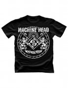 Machine Head Classic Crest T-Shirt Lizenzware schwarz-weiss