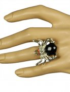 Spinnen-Ring Gothic Hexe silber
