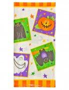 Halloween Kinderparty Pappgeschirr Tischdecke bunt 137x259cm