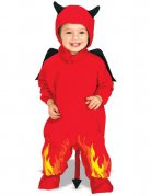 Teufel-Kostüm für Kleinkind rot-schwarz-gelb