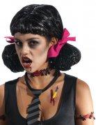 Zombie-Latexapplikationen Halloweenwunden rot-schwarz