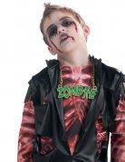 Halloween-Halskette Zombie grün