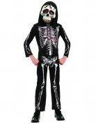 Skelett-Junge Halloween-Kinderkostüm schwarz-weiss