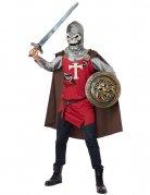 Skelett-Ritter Halloween-Kostüm Zombie grau-rot