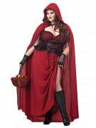 Gothic Rotkäppchen Halloween Damenkostüm Übergröße rot-schwarz