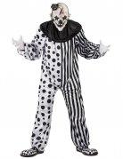 Horror-Clown Kostüm für Herren Halloween-Kostüm schwarz-weiss