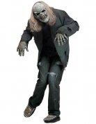 Zombie Halloween-Kostüm-Set grau