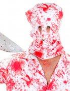 Blutige Sturmhaube Halloween-Maske weiss-rot