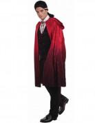 Vampir Cape mit Kapuze Umhang schwarz-rot