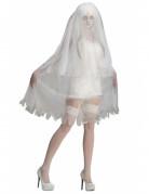 Edle Geister-Braut Halloween Damenkostüm weiss
