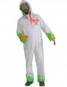 Verstrahlter Zombie Halloween-Kostüm weiss-grün