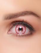 Kontaktlinsen blutige Adern rot-weiss
