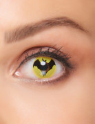 Kontaktlinsen Fledermaus gelb-schwarz