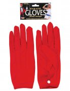 Kurze Handschuhe mit Knopf rot