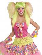 Cosplay Clown-Perücke mit Zöpfen hellgrün