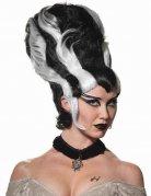 Monster-Braut Halloween-Perücke schwarz-weiss