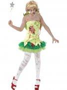 Zombie-Feenkostüm für Damen Halloween-Kostüm grün