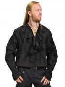 Gothic Rüschenhemd Mittelalter schwarz