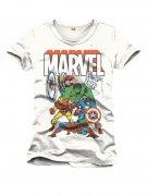 Marvel Avengers Comic T-Shirt Lizenzware weiss-bunt