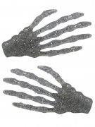 Kreepsville Haarklammern Skeletthand Glitzer silber