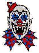 Kreepsville-Aufnäher Gothic-Horrorclown blau-weiss-rot