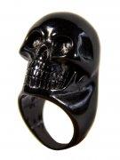 Kreepsville Gothic Ring Totenkopf schwarz